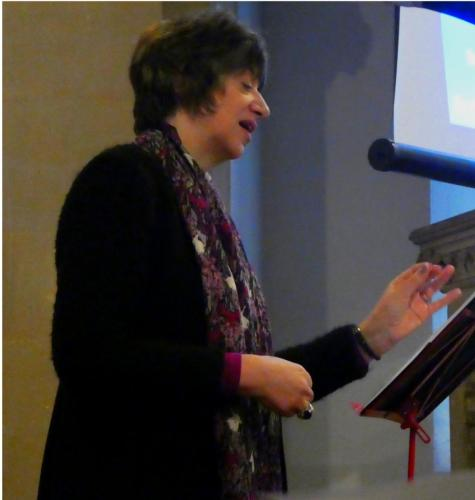 Bishop Rachel giving her sermon at our Benefise Service 14/01/18