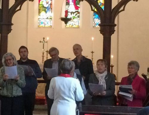 Part of our Benefice Choir in action